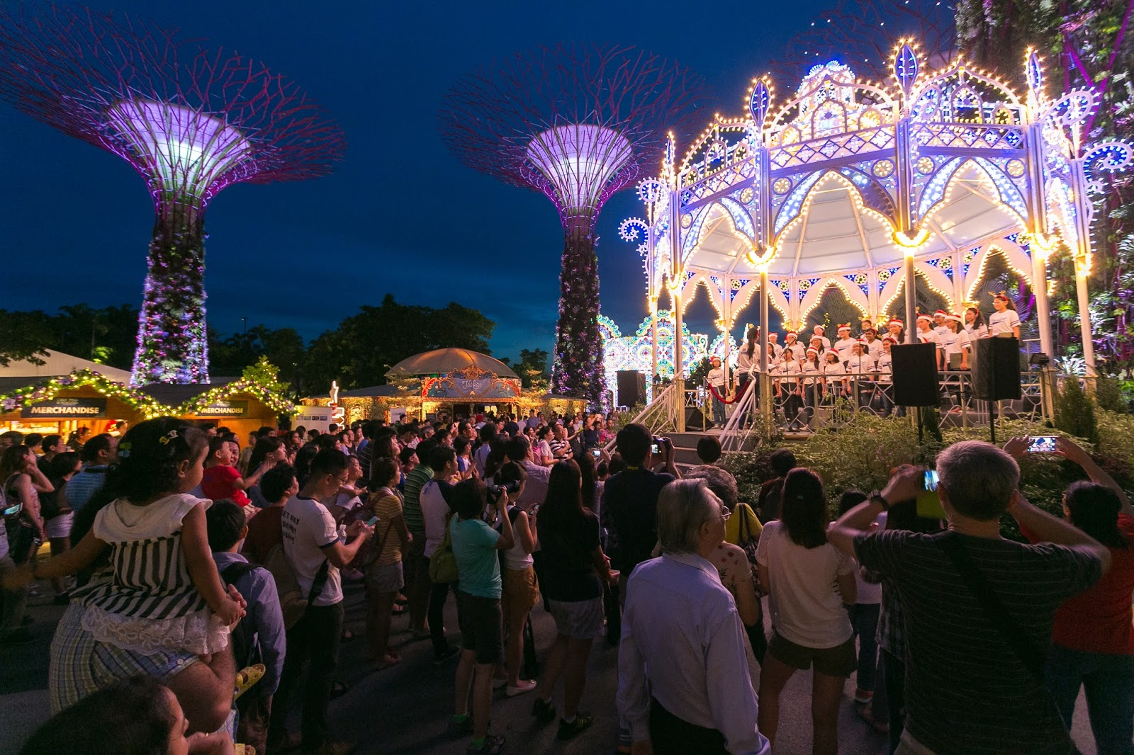 riding high on a successful inaugural year in 2014 this years christmas wonderland gardens by the bay will be nearly doubled in size at 35000 square