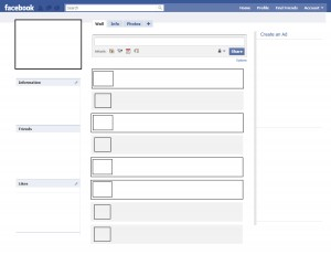 of face book wall to make Facebook Wall Template