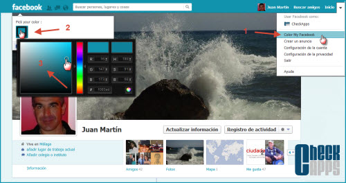 colormyfacebook,extension,chrome,firefox,change color,cambiar diseño