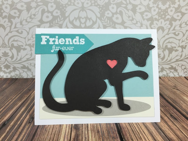 Cricut Artistry Kitty Cat card