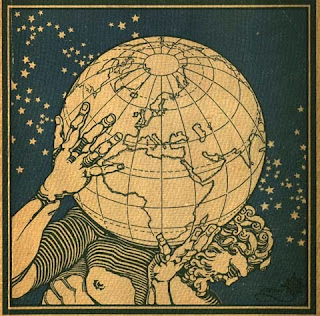 From the cover of Atlante geografico metodico (Novara, 1927). Department of Special Collections