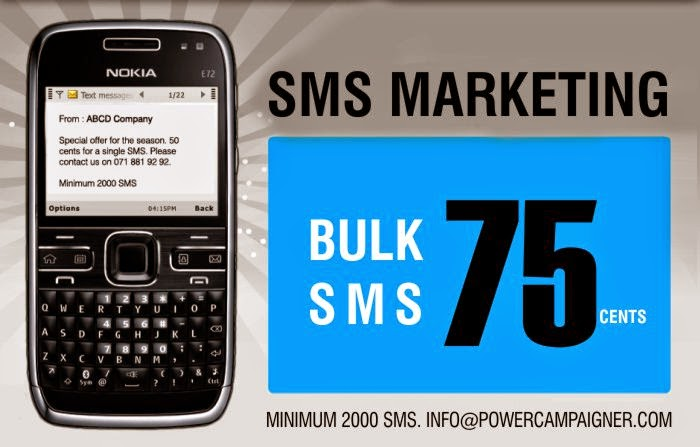 SMS Marketing - 75 Cents per Campaign.