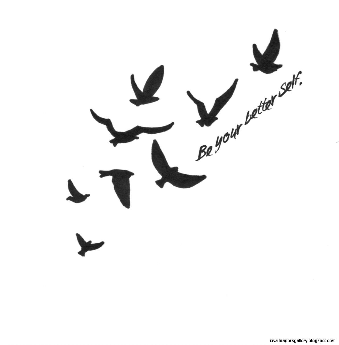 Flying Bird Tattoo Drawing Wallpapers Gallery