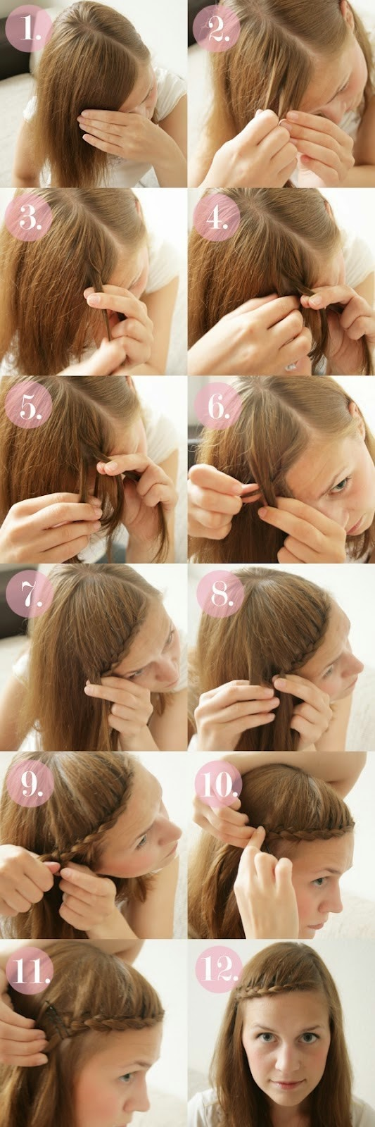 Braided Bangs Tutorial: Cute Braided Hairstyles