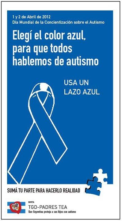 2 de Abril de día de la concientizacion del autismo