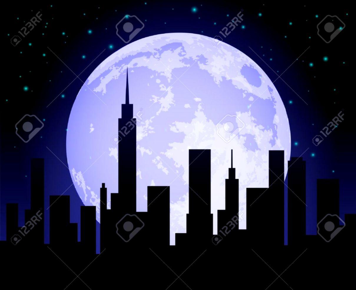 City Skylines At Night Painting 63286  DFILES