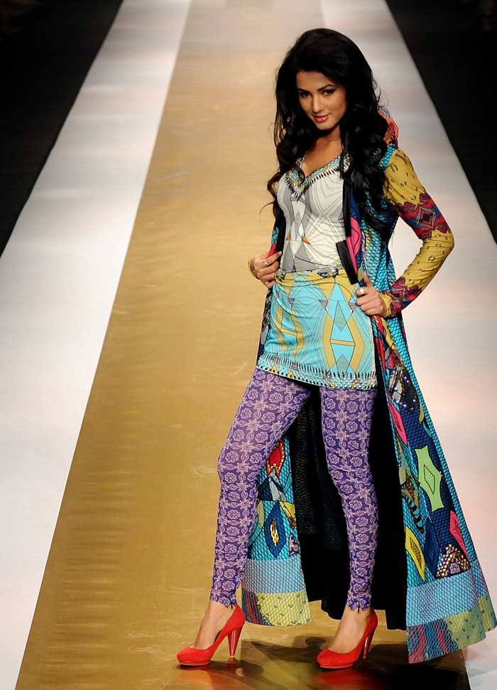 Beautiful girl in beautiful fashion dress