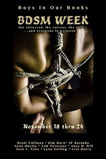 http://boysinourbooks.com/2013/11/19/bdsm-week-guest-post-giveaway-kim-dare/