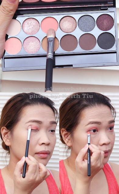 a photo of a Valentines Day Makeup tutorial using Sleek Oh So Special Palette
