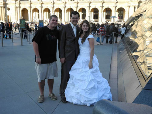 Noah Carpenter Crashing The Wedding At The Louvre, Paris