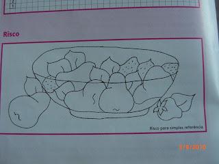 tigela com morangos e peras