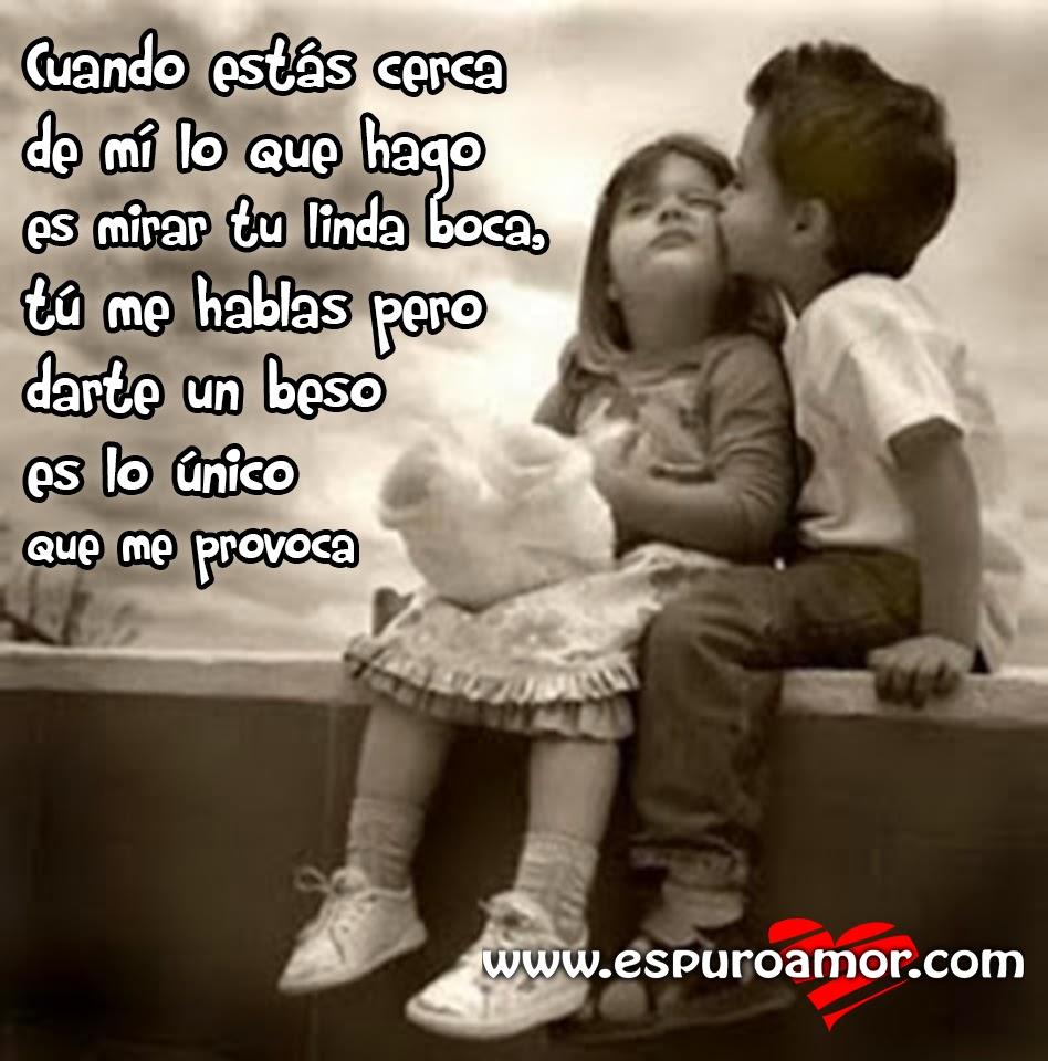 Imagenes De Amor Con Niños - Imagen de niños enamorados con hermosa frase de amor