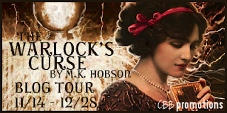 {Review+G!veaway} The Warlock's Curse by M. K. Hobson