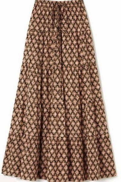 Tenue hijab jupe longue été