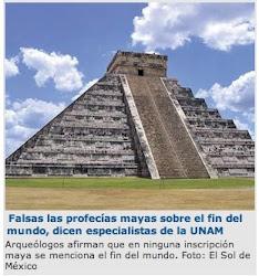 ESPECULACIONES, LAS PROFECÍAS MAYAS SOBRE EL FIN DEL MUNDO