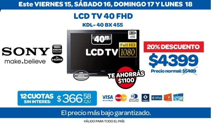 tecno promos argentina promo carrefour lcd tv. Black Bedroom Furniture Sets. Home Design Ideas