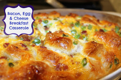 Bacon Egg and Cheese Breakfast Casserole is perfect for Saturday brunch!