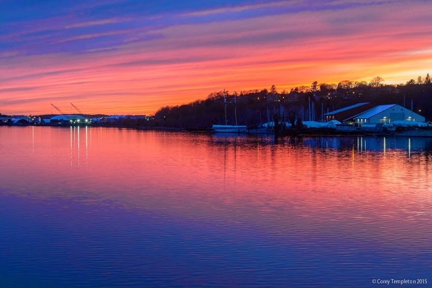 Portland, Maine April 2015 Spring Sunset over the Fore River photo by Corey Templeton.