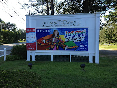 Poster of Clay Aiken in Joseph and the Amazing Technicolor Dreamcoat, outside Ogunquit Playhouse