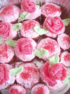 flower cupcakes for mothers day