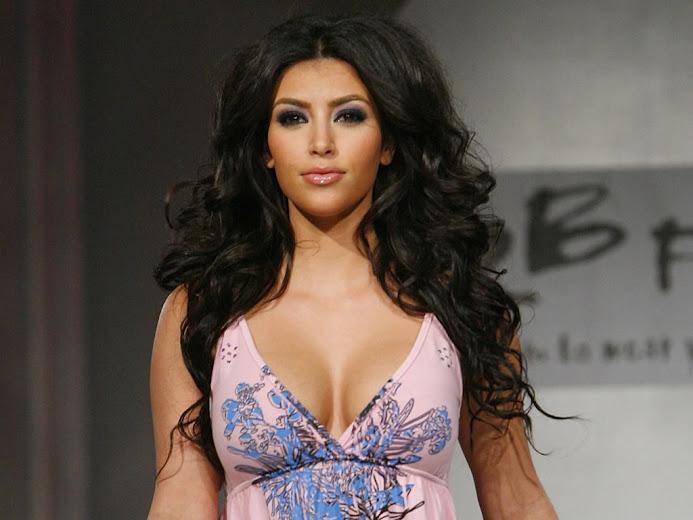 Kim Kardashian on the ramp walk