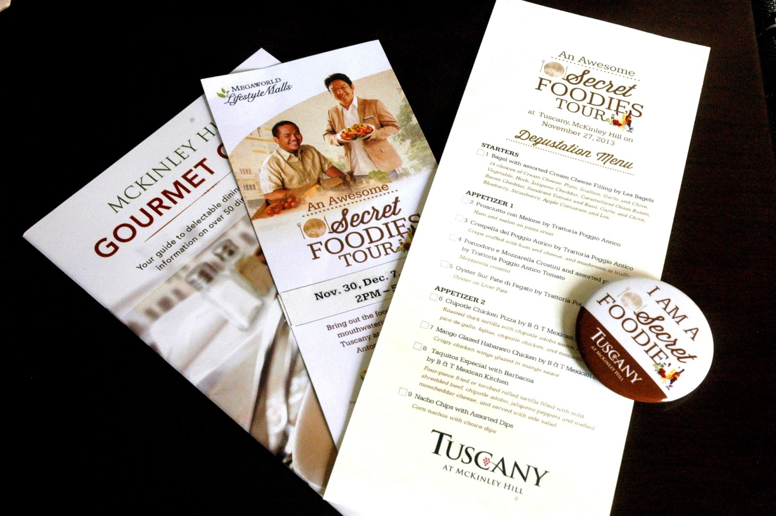 DUDE FOR FOOD: An Awesome Secret Foodies Tour at McKinley Hill\'s Tuscany
