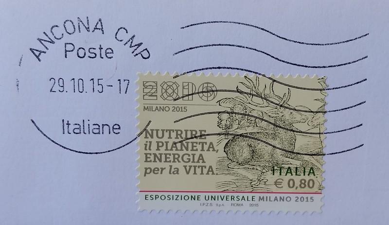 Expo 2015 francobollo Nutrire il pianeta energia per la vita