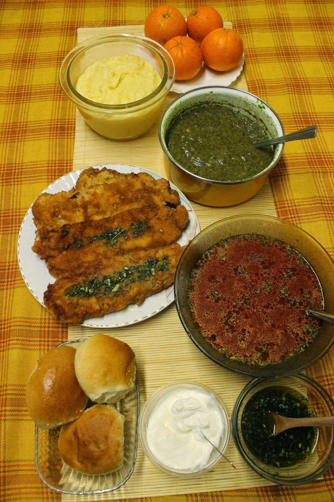 Ideja za rućak-ćorba,spanać,pohovani oslić,pire