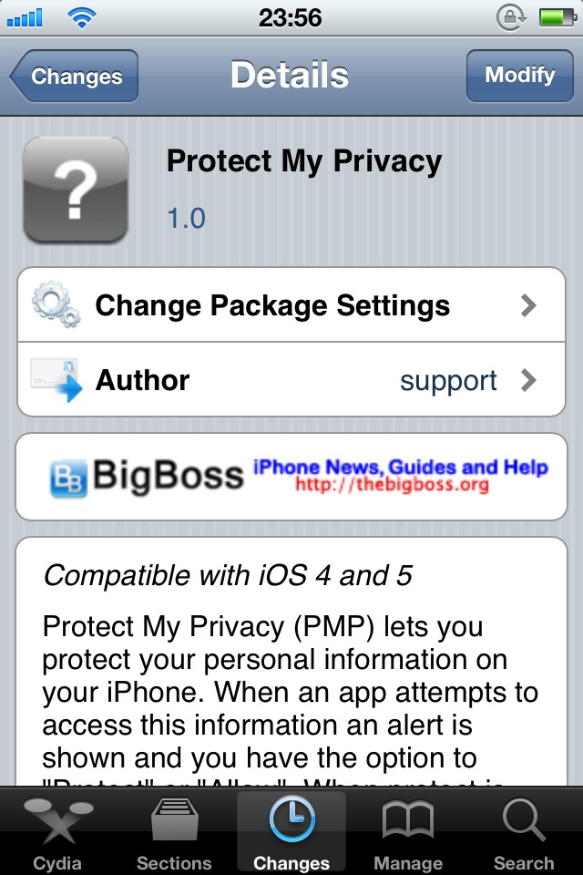 Protect My Privacy Cydia