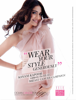 Sonam Kapoor Supports Elle's Breast Cancer Awareness Campaign Print Advertisement posters