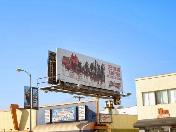 Festive Budweiser Designate a driver billboard