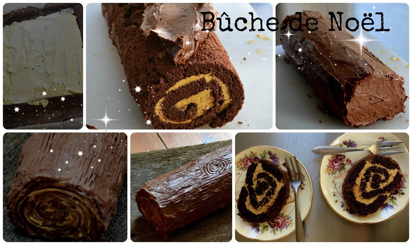 Zelf kerst dessert maken, bûche de noël. Klassiek Frans dessert.