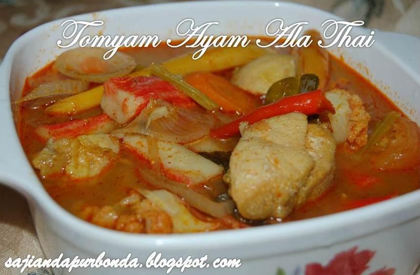 Sajian Dapur Bonda Tomyam Ayam Ala Thai