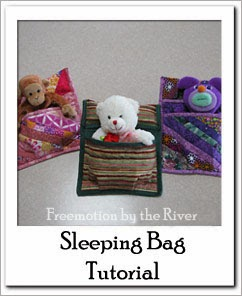 Sleeping Bag for stuffed animal Free Tutorial at Freemotion by the River