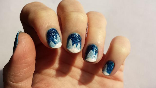 Nail art neige paysage