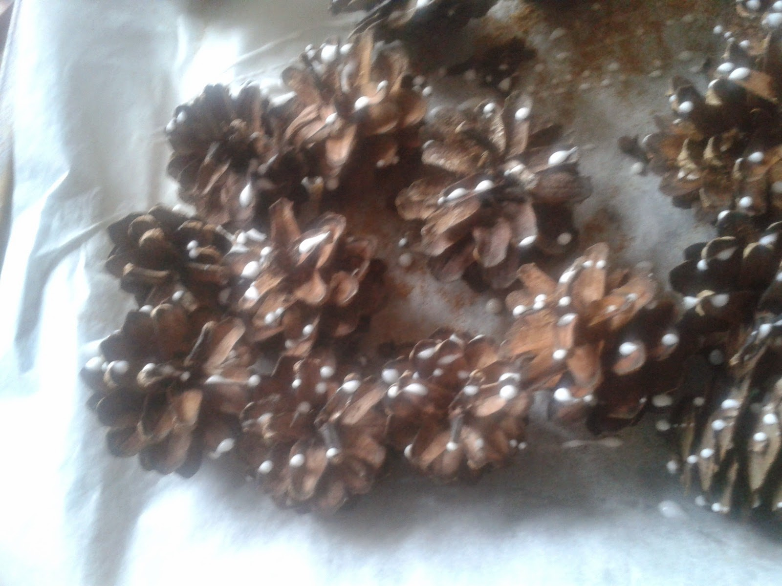decorating pinecones