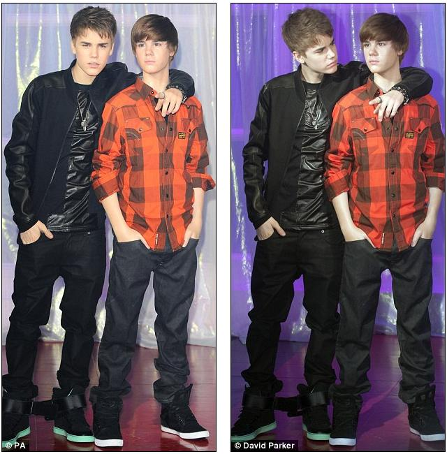 bieber waxwork. Spot the difference: Bieber