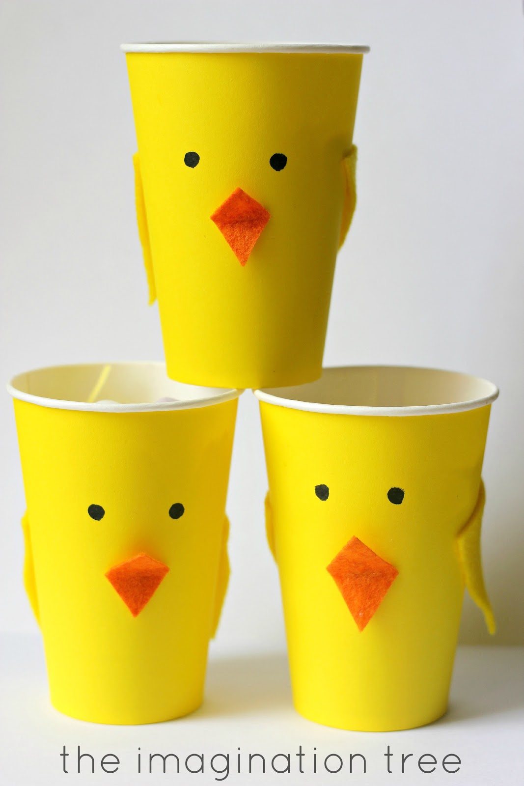 Easter Chick Treat Cups
