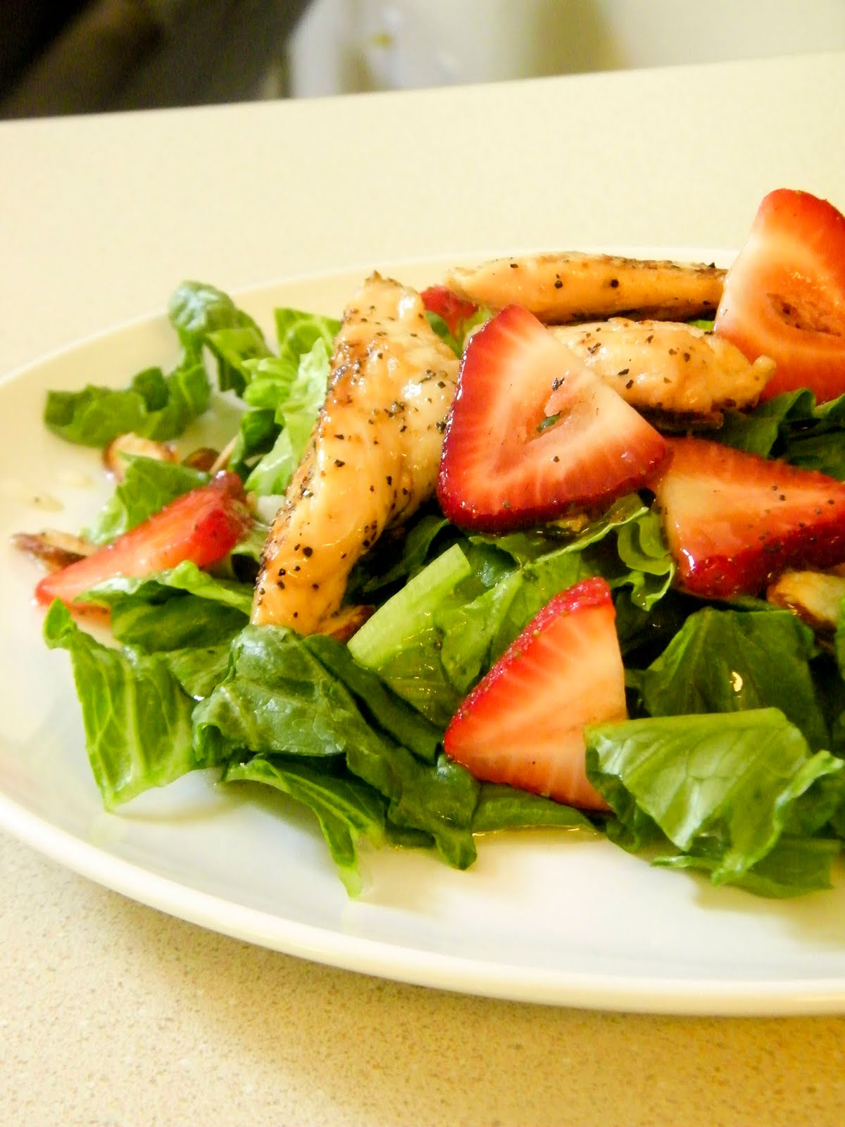 Cheaper by the Half Dozen: Strawberry Salad with Grilled Chicken