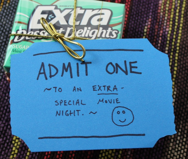 movie night gift bag box card idea