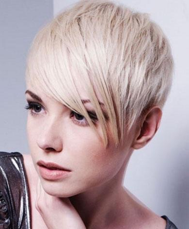 Layered Bangs Short Hair Style 2013