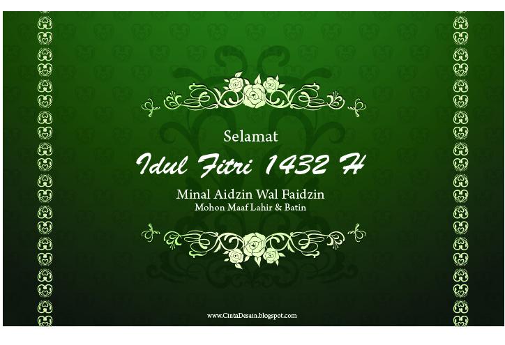 Desain Kartu Ucapan Selamat Idul Fitri 1432 H   Mohon Maaf Lahir dan ...