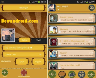 BBM Mod Background Orange Versi 2.8.0.21 apk