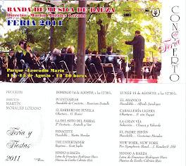 BAEZA FERIA 2011 - PROGRAMA DE CONCIERTO - BANDA DE MÚSICA DE BAEZA