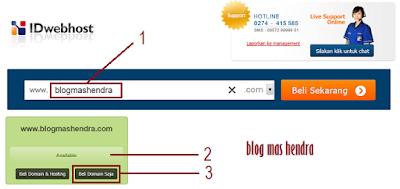 Input Nama Domain Baru - Blog Mas Hendra