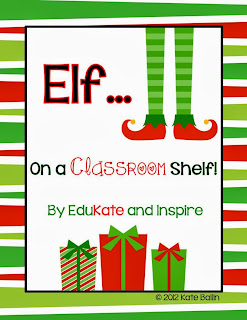 elf on a classroom shelf