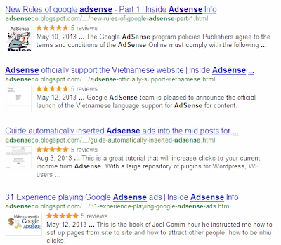 Star Rating Rich Snippet for Blogspot