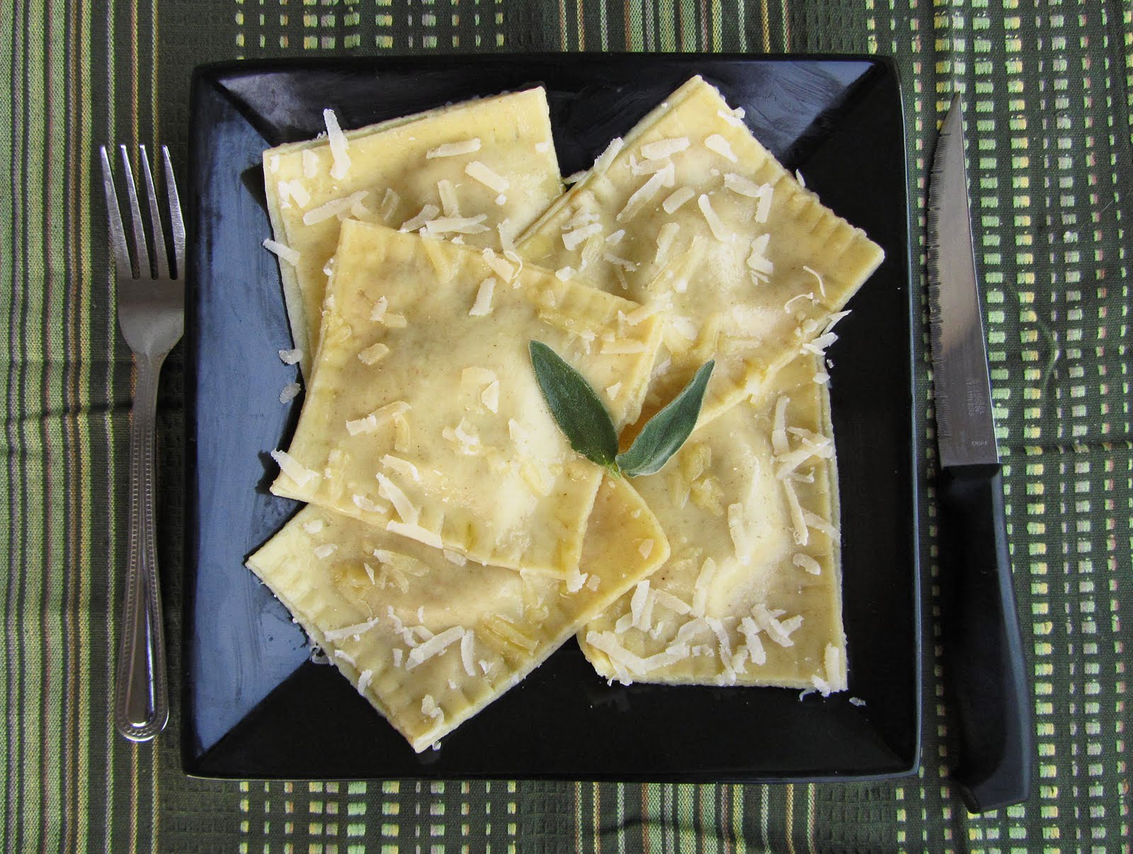 pumpkin goat cheese ravioli
