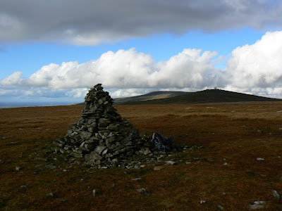 The summit of Knock Fell is one of the few North Pennine tops visited by a public right if way