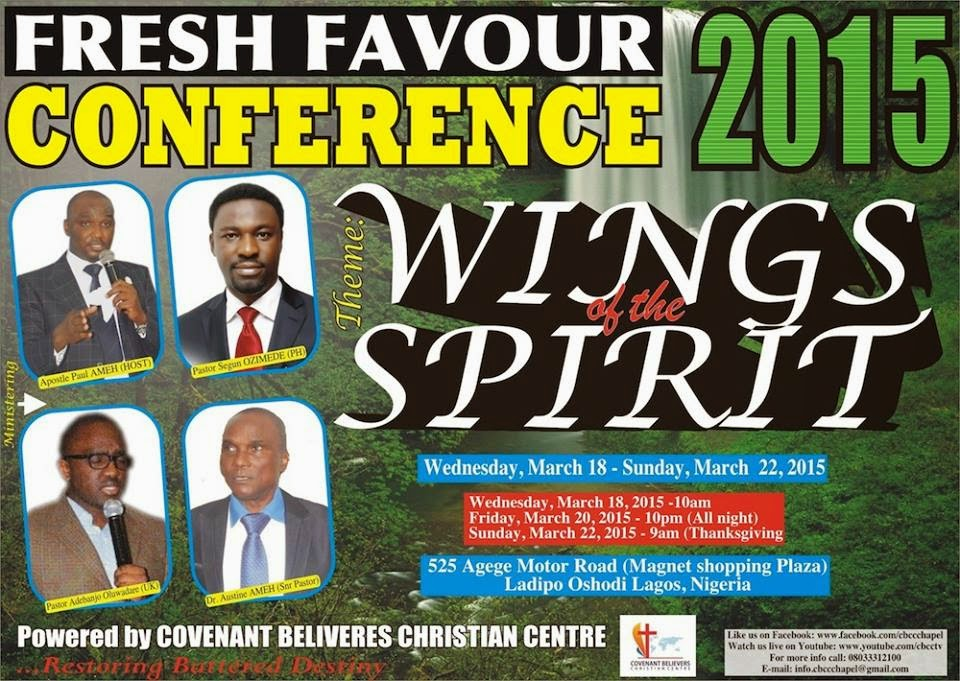 FRESH FAVOUR CONFERENCE